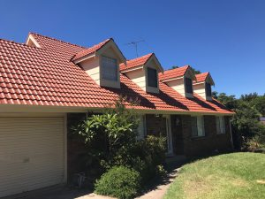 Cement tile roof restoration