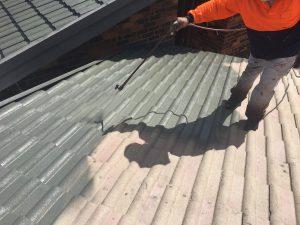 Roof spray painting