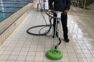 Slippery floor treatment